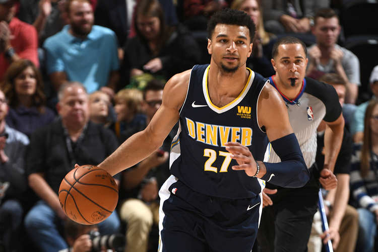 Denver player Jamal Murray in action