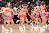 L.A. Clippers cheerleaders in action