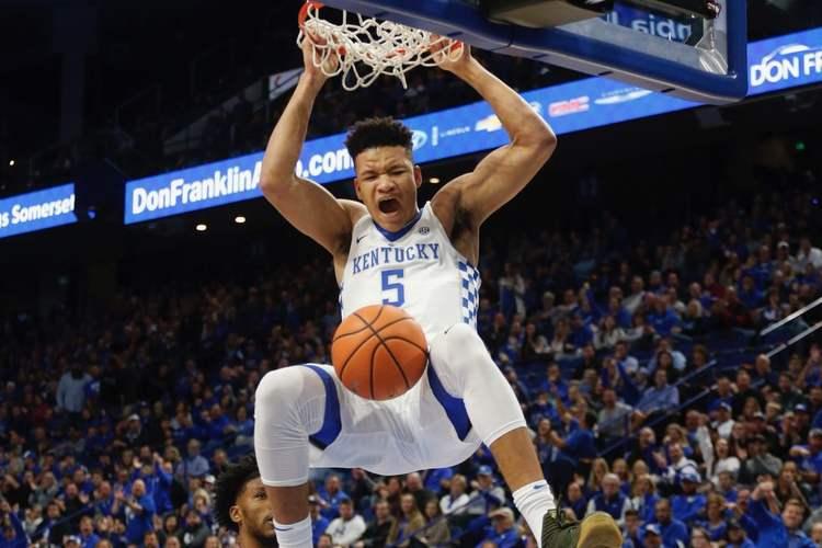 Kentucky Wildcats player in action