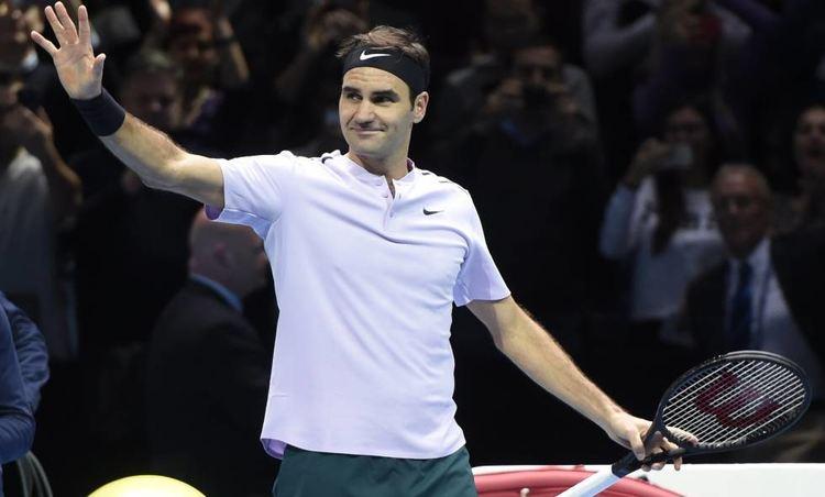Pro tennis player Roger Federer