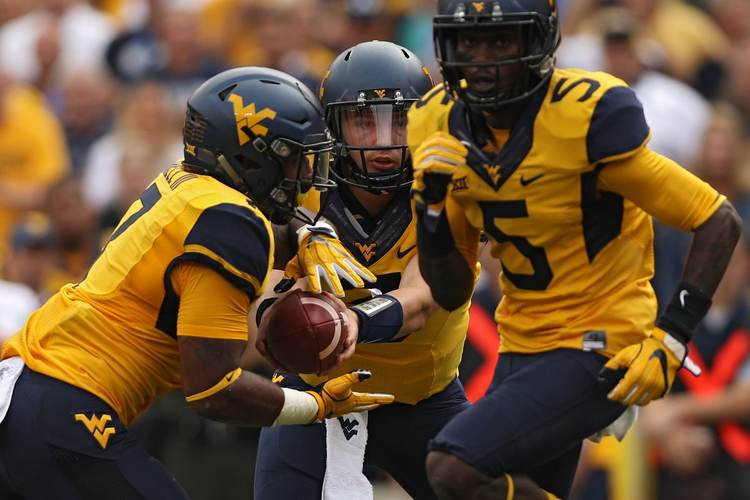 West Virginia Mountaineers players in action