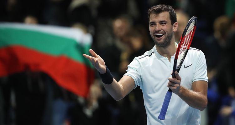 Pro tennis player Grigor Dimitrov