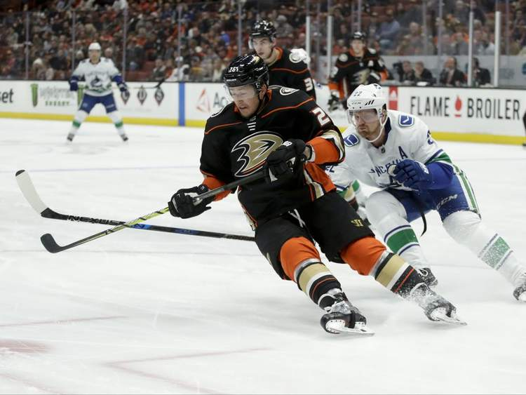 ducks canucks