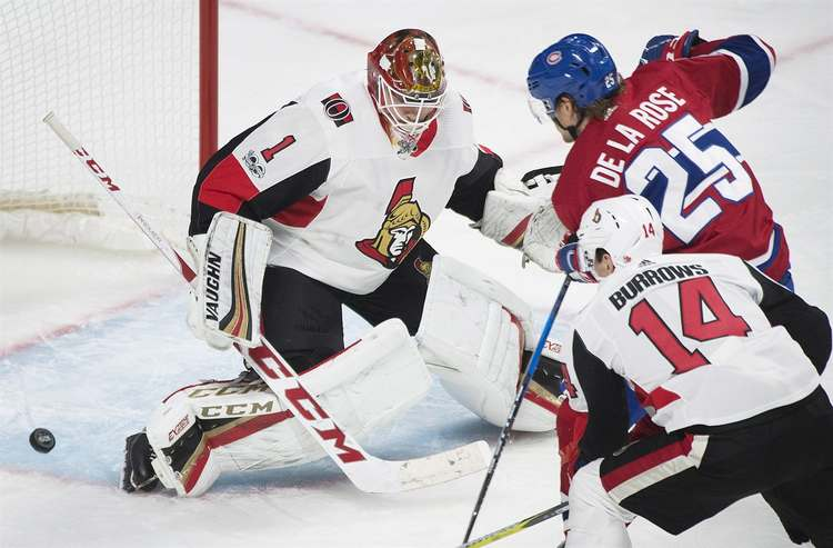 senators habs hockey