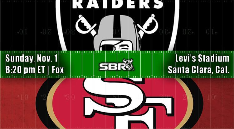 nfl week 9 raiders 49ers