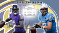 chargers ravens tape
