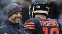 chicago bears matt nagy mitchell trubisky