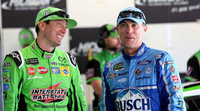 kyle busch and kevin harvick nascar