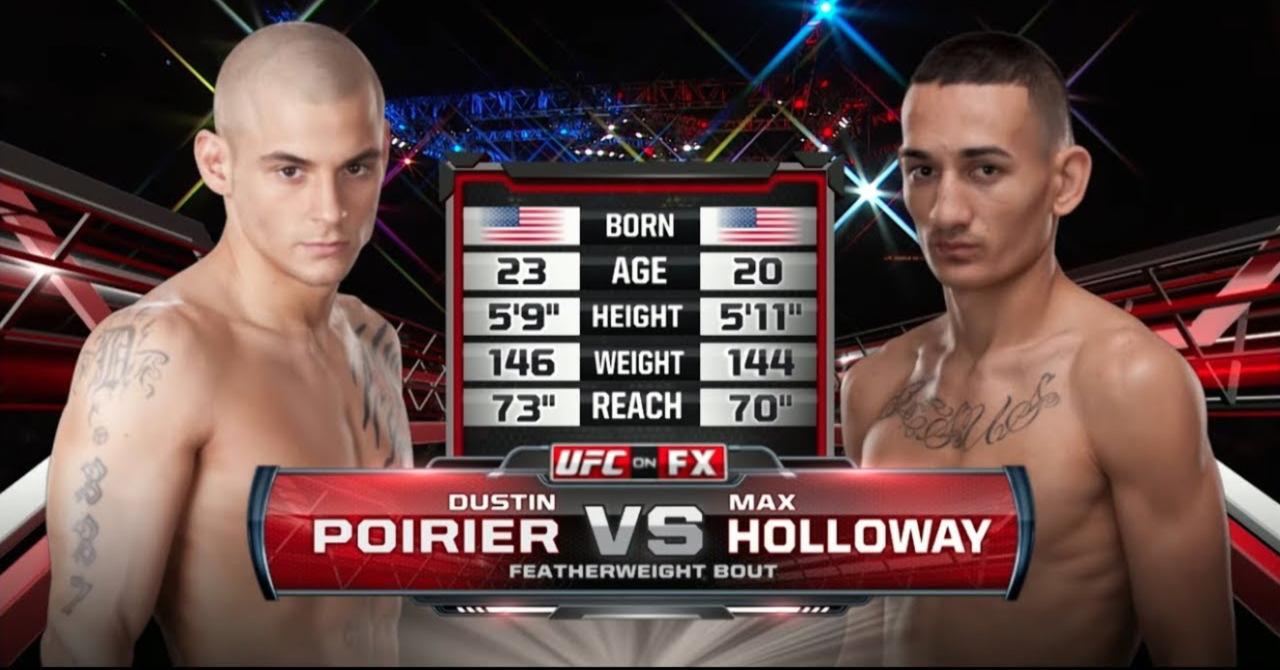 Image result for Max Holloway vs. Dustin Poirier