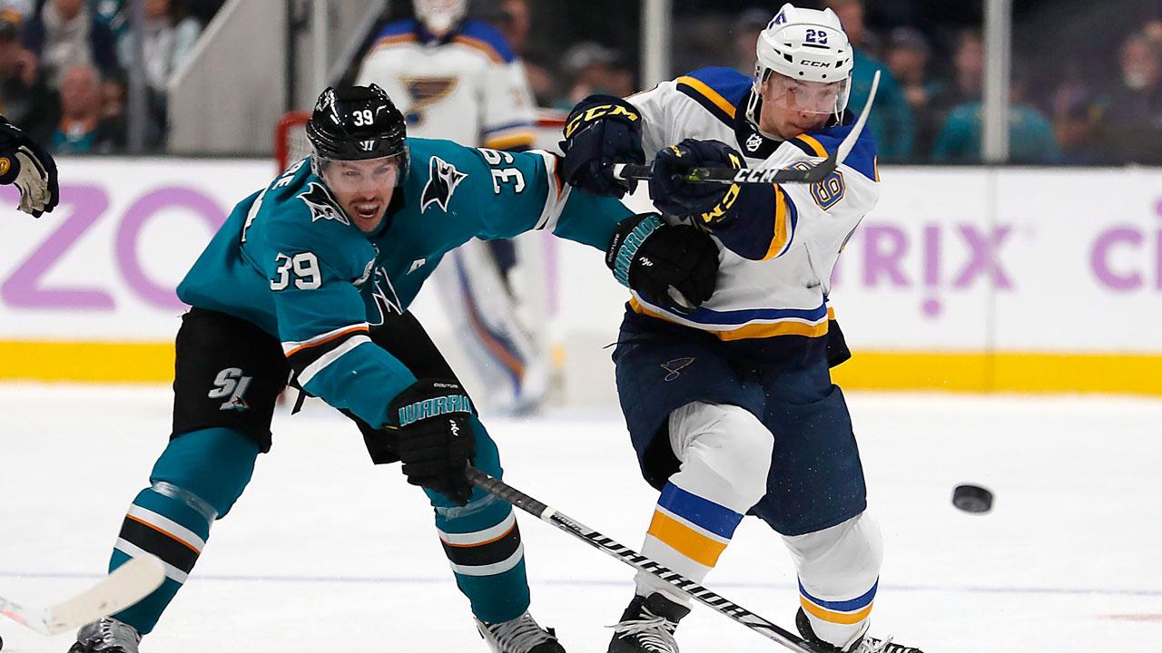 Sharks vs Blues Players